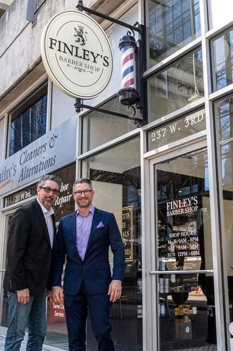 Darren Peterson Scott Finley Finleys Barbershop 3rd Street Austin